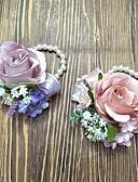 baratos Bouquets de Noiva-Bouquets de Noiva Buquê de Pulso Casamento Poliéster 3.94 polegada