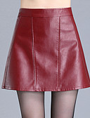 cheap Women's Skirts-Women's Plus Size A Line Skirts - Solid Colored