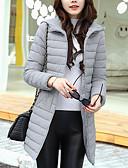 זול שמלות נשים-רגיל מעיל פוך מעיל נשים,אחיד סגנון רחוב ליציאה יום יומי\קז'ואל כותנה פוליפרופילן-שרוול ארוך