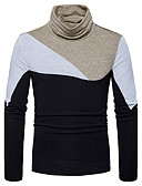 cheap Men's Sweaters & Cardigans-Men's Long Sleeves Pullover - Color Block