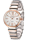 cheap Quartz Watches-Women's Luxury Watches Wrist Watch Gold Watch Quartz Silver / Rose Gold 30 m Hot Sale Analog Ladies Casual Fashion - White Black Rose Gold