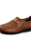 זול גברים-ג'קטים ומעילים-בגדי ריקוד גברים נעליים טול קיץ נוחות נעלי ספורט שטוח בוהן עגולה חום / כחול כהה / ירוק