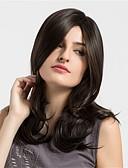 hesapli Bikiniler ve Mayolar 2017-Sentetik Peruklar Doğal Dalgalar Sentetik Saç Afrp Amerikan Peruk Kahverengi Peruk Kadın's Orta Bonesiz