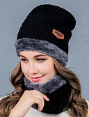 cheap Women's Hats-Women's Headwear Beanie / Slouchy - Solid Colored Pure Color / Fall / Winter