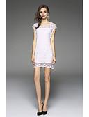 cheap Women's Tanks-Women's Silk Sheath Dress - Embroidery White Low Rise
