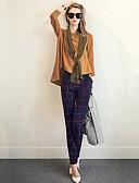 olcso Női kétrészes kosztümök-Női Utcai sikk Szabadság Póló - Egyszínű Pléd / takaró Nadrág