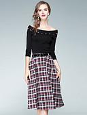 olcso Műkorcsolya ruha-Női Blúz - Egyszínű Pléd / takaró Kollázs Szoknya