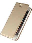 hesapli Cep Telefonu Kılıfları-Pouzdro Uyumluluk Apple iPhone 7 Plus / iPhone 7 / iPhone 6s Plus Kart Tutucu / Satandlı / Flip Tam Kaplama Kılıf Solid Sert PU Deri
