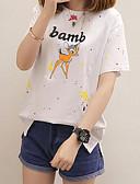 ieftine Tricou-Pentru femei Tricou Bumbac Imprimeu