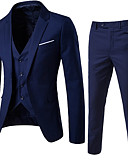 cheap Men's Sweaters & Cardigans-Men's Street chic Slim Suits - Solid Colored Notch Lapel