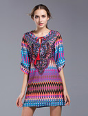 tanie Sukienki-Damskie Vintage / Boho / Moda miejska Spodnie - Geometric Shape Frędzel Fioletowy / Mini / Wyjściowe / Plaża