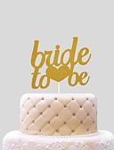 baratos Decorações de Bolo-Decorações de Bolo Casamento Corações Papel Casamento com 1 Bolsa PVS