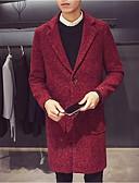 tanie Męskie kurtki i płaszcze-Płaszcz Długie Puszysta Męskie Wzornictwo chińskie Solidne kolory Bawełna / Poliester / Długi rękaw