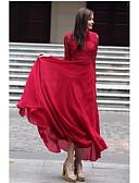זול שמלות נשים-עומד מקסי אחיד - שמלה סווינג בגדי ריקוד נשים