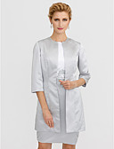 cheap Mother of the Bride Dresses-3/4 Length Sleeves Satin Wedding Party / Evening Women's Wrap Coats / Jackets