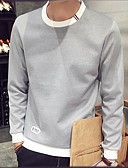 cheap Men's Hoodies & Sweatshirts-Men's Weekend Sweatshirt - Color Block Round Neck