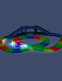 baratos Macacões & Macaquinhos-Carrinhos de Corrida & Pistas Carro de Corrida Subterrâneo - Longwall Brilha no Escuro LED Fluorescente Crianças Para Meninos Para Meninas Brinquedos Dom 166 pcs