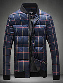 cheap Men's Shirts-Men's Going out Padded - Houndstooth