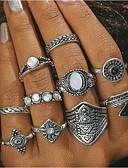 voordelige Modieuze hoofddeksels-Dames Geometrisch Ring - Turkoois Statement One-Size Goud / Zilver Voor Dagelijks