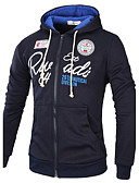 cheap Men's Shirts-Men's Sports Punk & Gothic Long Sleeve Hoodie Patchwork / Print Hooded / Plus Size