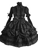 tanie Bluzka-Gotycka Lolita List Damskie Sukienka Cosplay Czarny Pompiasty / Balonowy Długi rękaw Długość średnia Kostiumy na Halloween