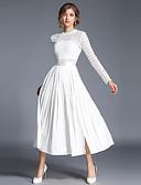 זול שמלות נשים-מידי אחיד - שמלה גזרת A וינטאג' / מתוחכם בגדי ריקוד נשים