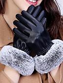 abordables Guantes de Fiesta-Mujer Poliuretano Hasta la Muñeca Para dedos Guantes - Accesorios / Guantes de Invierno / A Prueba de Agua Un Color