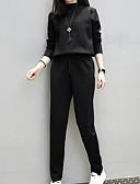 abordables Camisas y Camisetas para Mujer-Mujer Noche Tallas Grandes Sudadera - Un Color Pantalón / Verano / Otoño / Invierno / Look deportivo