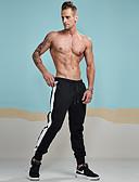 זול מכנסיים ושורטים לגברים-בגדי ריקוד גברים כותנה משוחרר / צ'ינו / מכנסי טרנינג מכנסיים - פסים שחור / ספורט