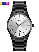 cheap Quartz Watches-SKMEI Men's Wrist Watch Japanese Quartz 50 m Casual Watch Alloy Band Analog Charm Fashion Black - Black Silver Blue