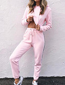 cheap Women's Two Piece Sets-Women's Hoodie - Solid Colored High Rise Pant Hooded