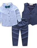 tanie Zestawy ubrań dla chłopców-Brzdąc Dla chłopców Aktywny Impreza / Codzienny Solidne kolory Długi rękaw Regularny Regularny Bawełna / Poliester Komplet odzieży Niebieski