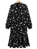 cheap Women's Tops-Women's Plus Size Loose Dress - Floral V Neck