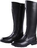 זול תחתוני גברים אקזוטיים-בגדי ריקוד גברים Fashion Boots סינטתי סתיו / חורף מגפי אופנוענים מגפיים מגפיים עד הברך / מגפיים באורך אמצע - חצי שוק שחור / מסיבה וערב
