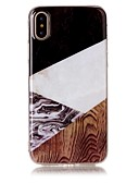 halpa Puhelimen kuoret-Etui Käyttötarkoitus Apple iPhone X / iPhone 8 Plus / iPhone 8 IMD / Kuvio Takakuori Puukuvio / Marble Pehmeä TPU