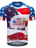 cheap Men's Hoodies & Sweatshirts-FUALRNY® Men's Short Sleeve Cycling Jersey - Blue / White Bike Jersey