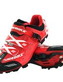 billige Sykkeljerseys-SIDEBIKE Voksne Mountain Bike-sko Karbonfiber Demping Sykling Rød Svart Herre / ånd bare Blanding / Krok og øye