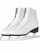 cheap Ice Skating Dresses , Pants & Jackets-Kid's Figure Skates Ice Skates Leather Trainer Wearable Beginner Professional Leisure Sports White