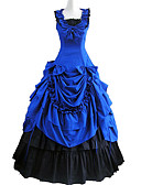 cheap Historical & Vintage Costumes-Victorian / Medieval Costume Women's Dress / Party Costume / Masquerade Blue Vintage Cosplay Cotton Sleeveless Lolita