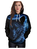 cheap Women's Hoodies & Sweatshirts-Women's Going out Cotton Hoodie - 3D Print / Fall