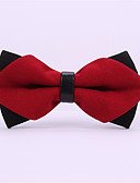 cheap Fashion Scarves-Men's Rayon Bow Tie - Solid Colored