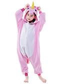 olcso Férfi pólók és pulóverek-Gyermek Kigurumi pizsama Unicorn Táltos paripa Onesie pizsama Polár gyapjú Rózsaszín / Fehér+Kék / Fehér+Rózsaszín Cosplay mert Fiúk és lányok Allati Hálóruházat Rajzfilm Fesztivál / ünnepek Jelmez