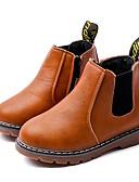 baratos Vestidos para Daminhas de Honra-Para Meninos Sapatos Micofibra Sintética PU Inverno Conforto / Coturnos Botas para Preto / Cinzento / Marron