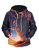 cheap Men's Hoodies & Sweatshirts-Men's Long Sleeves Hoodie - 3D Print Hooded