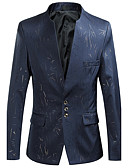 cheap Men's Blazers & Suits-Men's Plus Size Cotton Slim Blazer Print Stand