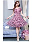 baratos Vestidos de Mulher-Mulheres Clássico Solto Vestido - Estampado, Multi-Côr Médio
