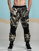 זול מכנסיים ושורטים לגברים-מכנסיים טלאים להסוות סקיני משוחרר מכנסי טרנינג צ'ינו כותנה בגדי ריקוד גברים