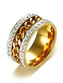 ieftine Editor's Picks-Bărbați Zirconiu Cubic Band Ring Inel de logodna Teak Simplu De Bază Dubai Inele la Modă Bijuterii Auriu Pentru Nuntă Zilnic Casual Mascaradă Petrecere Logodnă Bal 7 / 8 / 9 / 10 / 11