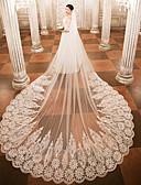 olcso Menyasszonyi fátyol-Egykapcsos Menyasszonyi fátyol Katedrális fátylak val vel Rátétek Csipke / Tüll / Angyal / Vízesés szabású