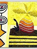 billige Kjoler-Hang-Painted Oliemaleri Hånd malede - Abstrakt Abstrakt Parfumeret Realisme Lærred